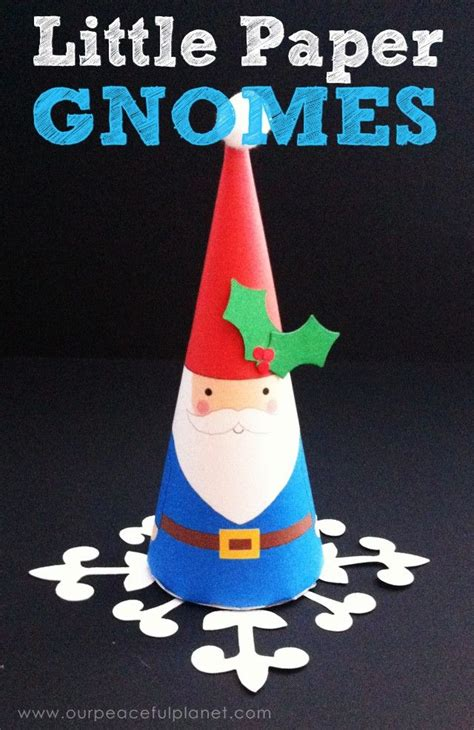 printable paper gnomes little christmas gnomes ornament tutorial patterns