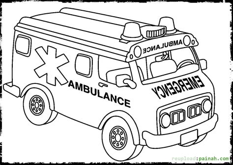 Ambulance Coloring Page Free | ambulance coloring pages to download and print for free