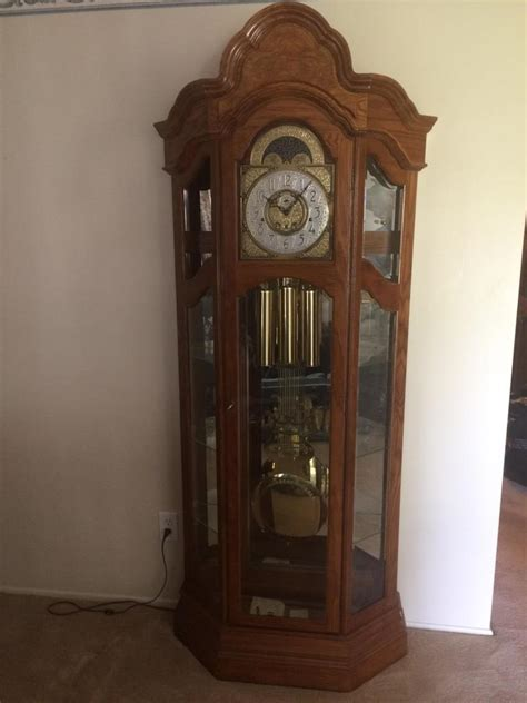 grandfather clock curio cabinet ridgeway grandfather clock curio cabinet