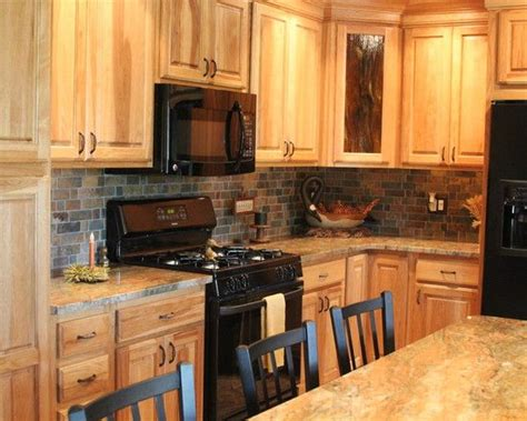 cabinet appliances with brown stained wooden hickory 29 best kitchens images on pinterest home ideas