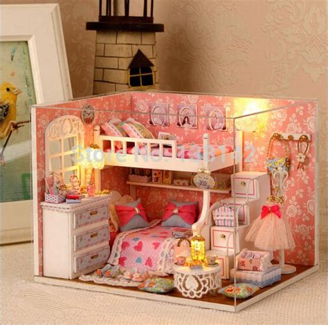 how to make a doll bedroom wholesale h006 new arrive 1 12 miniatura diy wooden doll