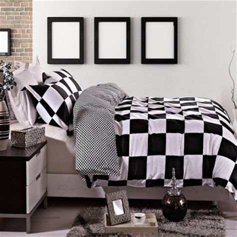 total fab black and white checkered comforters bedding sets