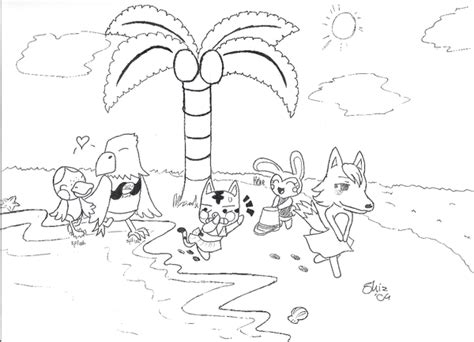 Animal Crossing Animals V4 By Deoxys145 On Deviantart Animal Crossing New Leaf Coloring Pages
