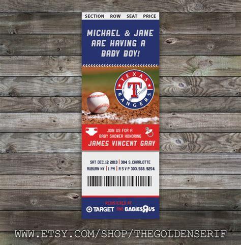 printable baseball tickets printable baseball ticket baby shower invitation