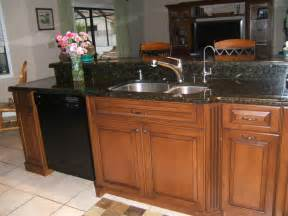 Granite Countertops With Black Appliances by Best Color With Cherry Cabinets Quartz Or Granite
