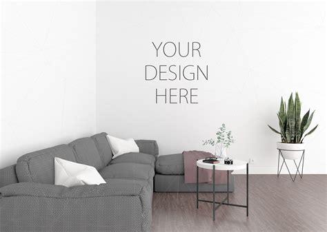 mock up your design here interior mockup blank wall mock up by design bundles