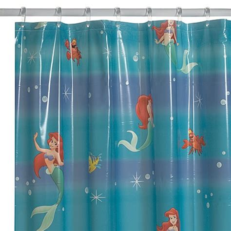 ariel shower curtain disney 174 little mermaid shower curtain bed bath beyond