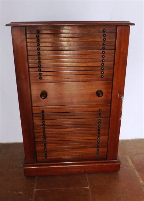 Coin Cabinet by C1860 Mahogany Coin Collectors Cabinet 217085