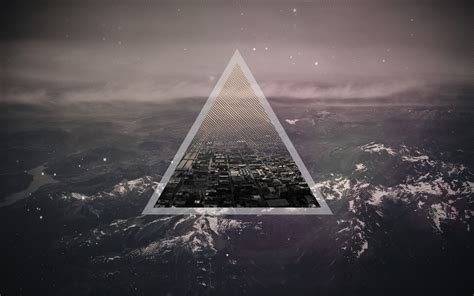 abstract wallpaper triangle abstract triangle city in mountains wallpaper hdwallpaperfx