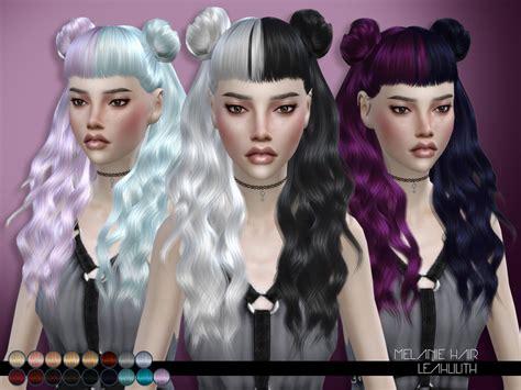 sims 4 hair black tsr the sims resource leah lillith s leahlillith melanie hair