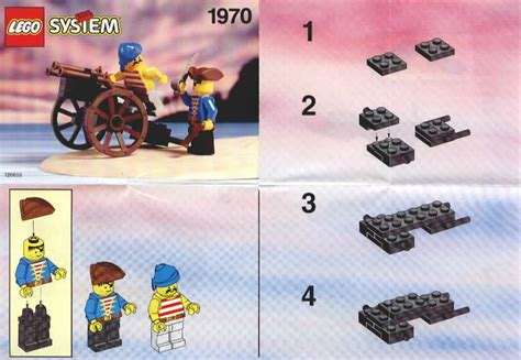 Lego Original Pirate Gun lego gun cart 1970