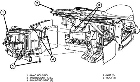 Service Manual 1999 Dodge Stratus How To Remove Heater
