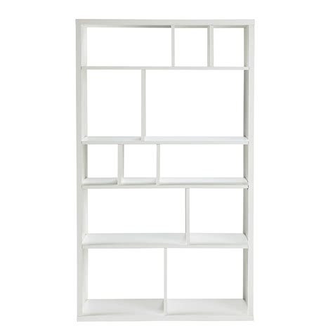 white wooden bookcases wooden bookcase in white w 100cm tonic maisons du monde