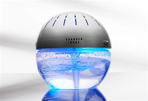lighted water air purifier  freshener  sharper image