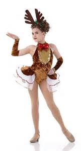 Rockin reindeer christmas dance costume pageant w arm mitts new cxs
