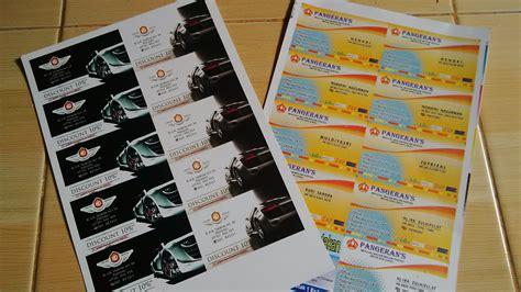 Cetak Stiker Nama cetak kartu nama brosur stiker murah di padang