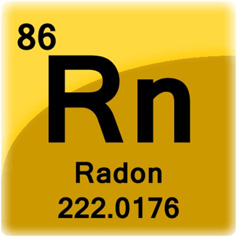 Rn On Periodic Table by Radon Element Cell Science Notes And Projects