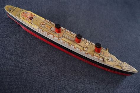 wooden boat year model boat souvenir rms queen mary wooden boat year