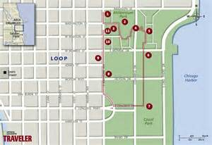 Grant Park Chicago Map by Chicago Walking Tour Millennium And Grant Parks