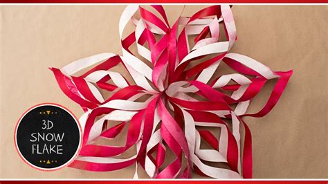 How To Make 3d Snowflakes Out Of Construction Paper - how to make 3d paper snowflake decorations out of paper