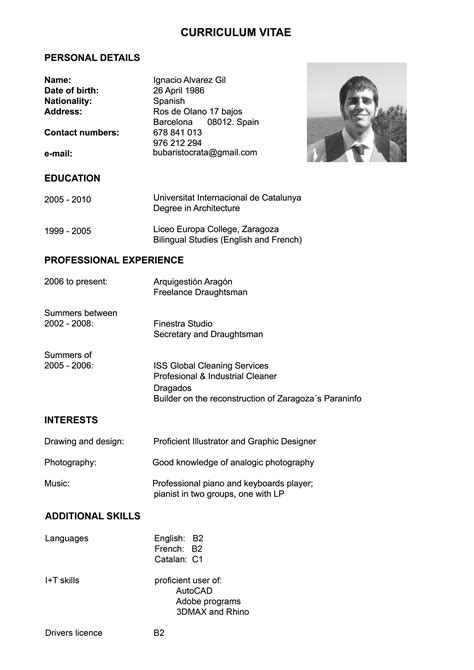 Modelo Curriculum Vitae Ingles Word Como Hacer Un Curriculum Vitae Como Hacer Un Curriculum Vitae En Ingles
