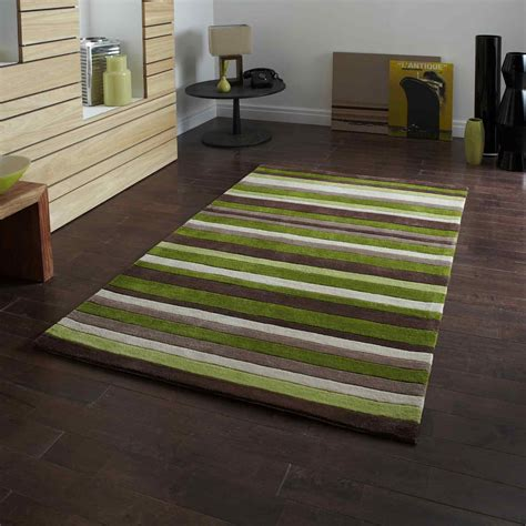 brown and green rugs uk hong kong rugs 2022 green brown stripes free uk delivery the rug seller