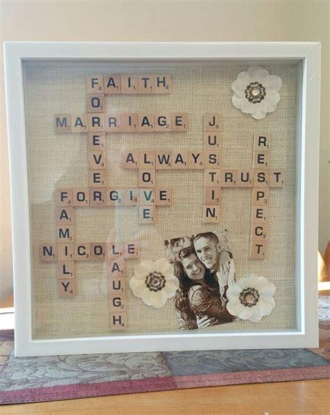 scrabble wedding gift in a shadow box diy weddings