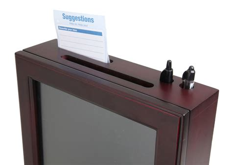 How To Make A Donation Box Out Of Paper - wood collection box suggestion box donation charity box