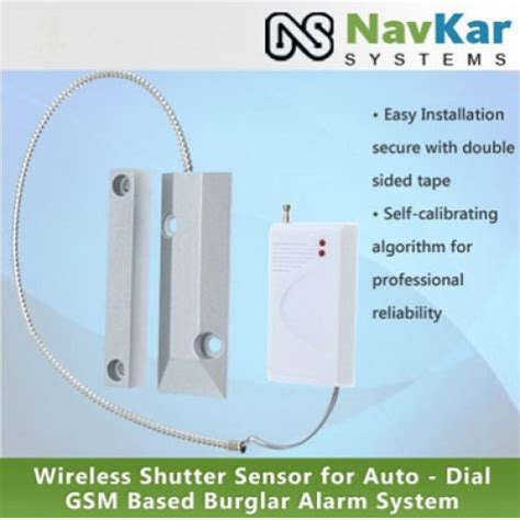 wireless shutter sensor for auto gsm based burglar