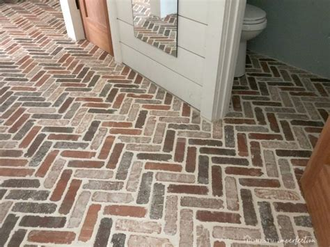 Herringbone Brick Paver Floor   Domestic Imperfection