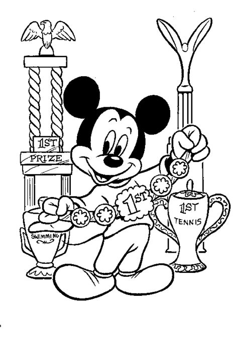 mickey coloring pages birthday birthday gifts and balloons mickey mouse disney coloring