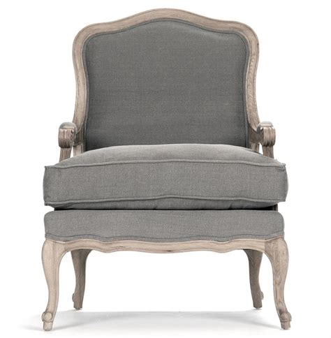 french country armchair french country bastille dark grey linen salon armchair