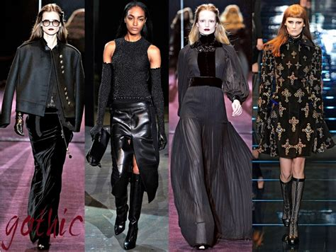 gothic designers fall winter 2012 fashion trends