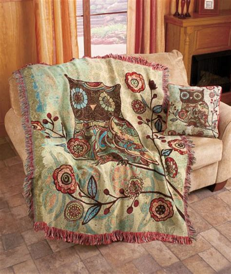 tapestry throws couch new retro milo owl collection wall tapestry throw blanket