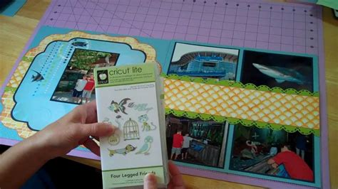 scrapbook layout ideas using cricut just keep swimming cricut double page scrapbook layout