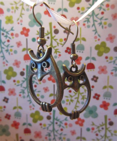cool hooks stuff pinterest wisest old owl earrings brass with matching hooks by