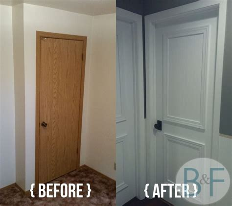 before after jennifer s style added bedroom makeover 25 best ideas about hollow core doors on pinterest door