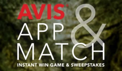 Instant Win Game Sweepstakes Official Rules - avis app match instant win game sweepstakes