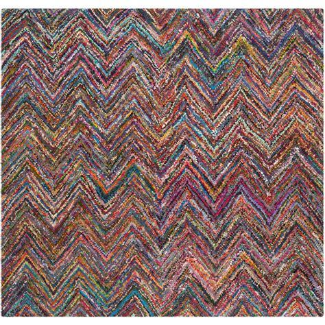6 foot square rug safavieh nantucket blue multi 6 ft x 6 ft square area rug nan141c 6sq the home depot