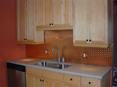 ceiling tile backsplash copper subway tile backsplash great home decor copper