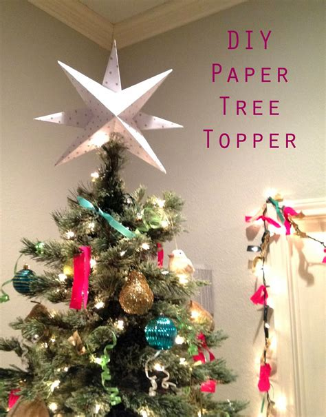 the happy homebodies diy paper star christmas tree topper