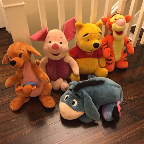 Exclusive Boneka Winnie The Pooh Jumbo jumbo plush winnie the pooh tigger piglet eeyore kanga roo mattel disney ebay