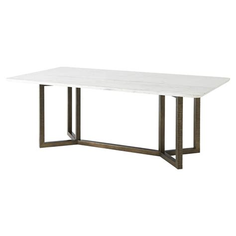 white marble dining table theodore hermosa table honed white marble top
