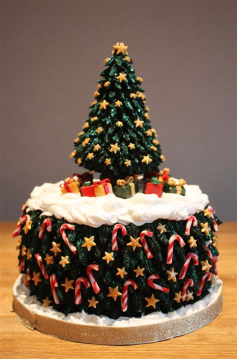 christmas tree christmas cake by kateskakes on deviantart