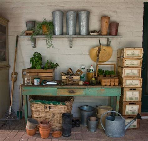 Potters Bench Plans 58 Awesome Potting Benches For Every Gardener Shelterness