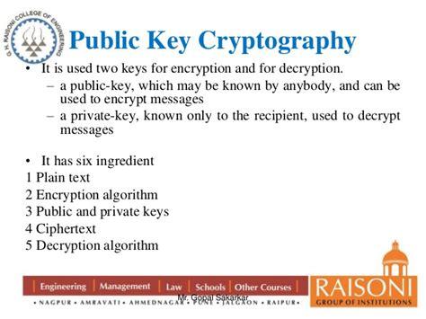 public key encryption public key cryptography