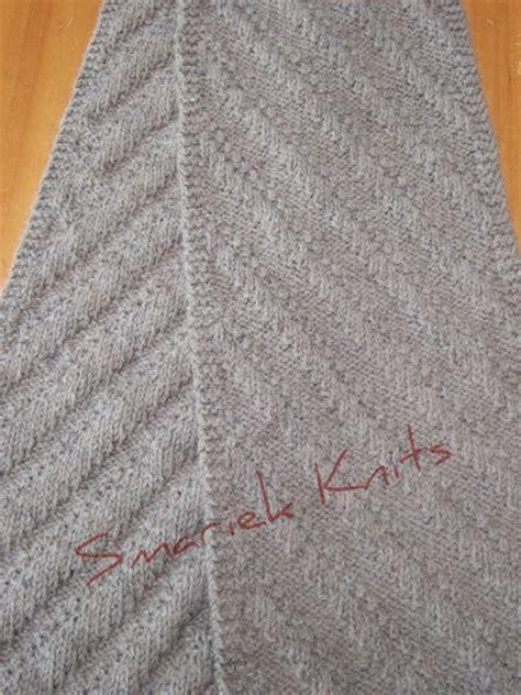 Sb 630 Knit two diagonal scarves smariek knits