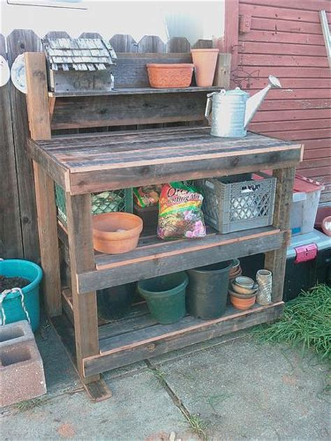 Garden Potting Bench Ideas 154 Best Images About Potting Bench Ideas On Pinterest Outdoor Sheds And Repurposed