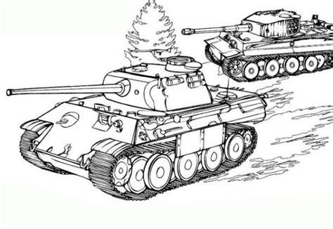 tiger tank coloring page ausmalbilder zum ausdrucken gratis malvorlagen panzer 6