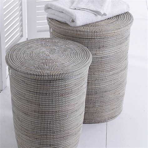 hand woven laundry basket